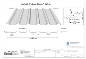 ExcelClad 1000-32 Forward NO RIBS
